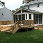 New Screened porch and deck